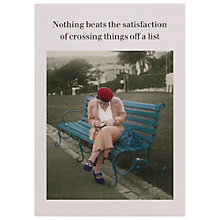 Buy Cath Tate Cards Crossing Things Off Humorous Greeting Card Online at johnlewis.com