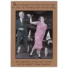 Buy Pigment Couple Dancing Humorous Greeting Card Online at johnlewis.com