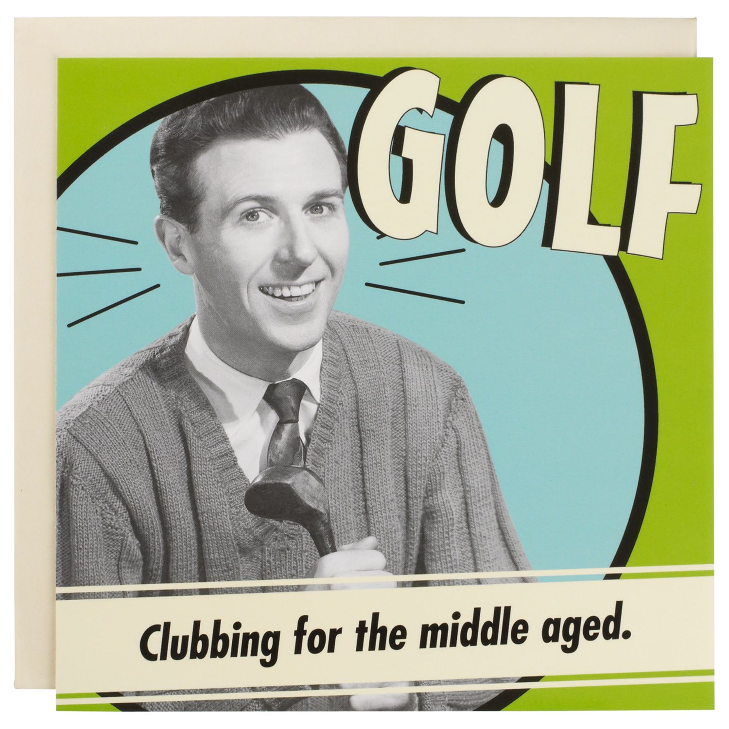 Emotional Rescue Golf Clubbing Humorous Greeting Card