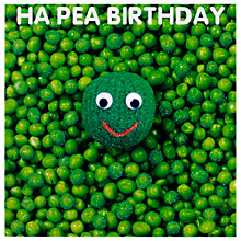 Buy Mint Ha Pea Birthday Card Online at johnlewis.com