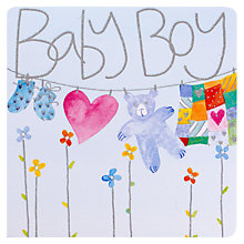 Buy Mint New Baby Boy Card Online at johnlewis.com