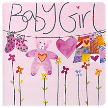 Buy Mint New Baby Girl Card Online at johnlewis.com