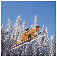 Buy Metropolis Worldwide Summo Ski Jump Greeting Card Online at johnlewis.com