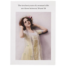 Buy Cath Tate Cards Ten Best Years Humorous Greeting Card Online at johnlewis.com