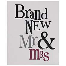 Buy Really Good Mr & Mrs Wedding Card Online at johnlewis.com