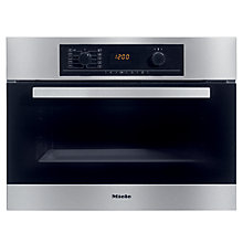 Buy Miele H5040B Compact Single Electric Oven, Stainless Steel Online at johnlewis.com