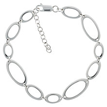 Buy Nina B Sterling Silver Oval Link Bracelet Online at johnlewis.com