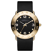 Buy Marc by Marc Jacobs MBM1154 Women's Round Dial Leather Strap Watch, Black Online at johnlewis.com