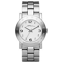 Buy Marc by Marc Jacobs MBM3054 Women's Amy Stainless Steel Round Bracelet Watch Online at johnlewis.com