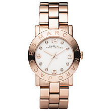 Buy Marc by Marc Jacobs Women's Amy Round Dial Stainless Steel Bracelet Watch Online at johnlewis.com
