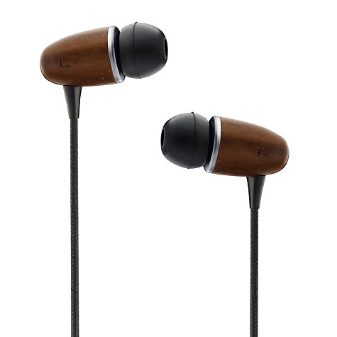 Buy John Lewis Handcrafted Wooden In-Ear Headphones, Black/Walnut Online at johnlewis.com