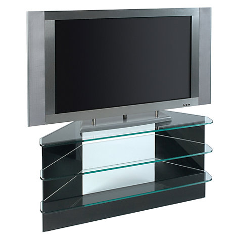 Buy Greenapple Black Glass GL59293HZW Television Stand for TVs up to 42-inch, Flair Online at johnlewis.com