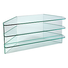 Buy Greenapple Clear Glass GL59291 Television Stand for TVs up to 47-inch, Flair Online at johnlewis.com