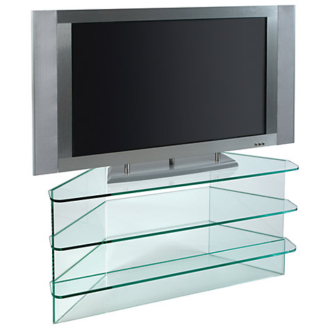 "Buy Greenapple GL59293 Flair Stand for TVs up to 37"", Clear Glass Online at johnlewis.com"