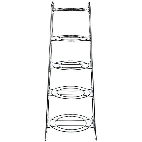 Buy John Lewis Chrome Saucepan Stand, 5 Tier Online at johnlewis.com