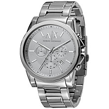 Buy Armani Exchange AX2058 Men's Chronograph Bracelet Watch, Silver Online at johnlewis.com