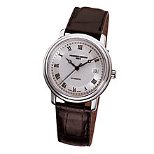 Buy Frédérique Constant FC-303MC3P6 Men's Classic Round Dial Brown Leather Strap Watch Online at johnlewis.com