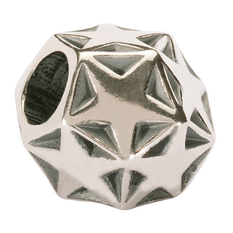 Trollbeads 'Sparkling Star' Silver Bead