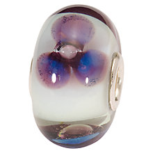 Buy Trollbeads Antique Flower Charm, Purple/White Online at johnlewis.com