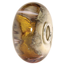 Buy Trollbeads Golden Cave Bead, Gold/Brown Online at johnlewis.com