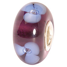 Buy Trollbeads Purple Flower Glass Bead, Purple Online at johnlewis.com