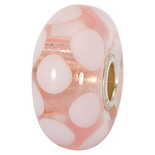 Buy Trollbeads Summer Dot Glass Bead, Pink/White Online at johnlewis.com
