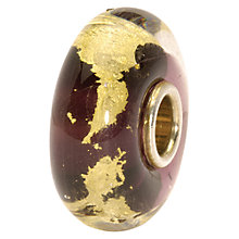 Buy Trollbeads Third Eye Bead, Purple/Gold Online at johnlewis.com