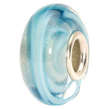 Buy Trollbeads Ribbon Glass Bead, Turquoise Online at johnlewis.com