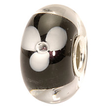 Buy Trollbeads White Flower Glass Bead, White/Black Online at johnlewis.com
