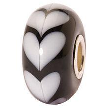 Buy Trollbeads Heart Glass Bead, White/Black Online at johnlewis.com