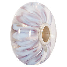 Buy Trollbeads White Petals Glass Bead, White Online at johnlewis.com