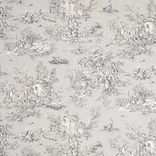 Buy John Lewis Toile Acrylic Covered Tablecloth Fabric, Duck Egg Online at johnlewis.com