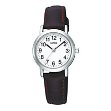 Buy Lorus RRS89SX9 Women's Full Figure Leather Strap Watch Online at johnlewis.com