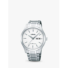 Buy Lorus RXN39CX9 Men's Chronograph Round Silver Bracelet Watch Online at johnlewis.com