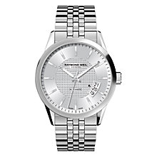 Buy Raymond Weil 2770-ST-65021 Freelancer Men's Stainless Steel Silver Dial Bracelet Watch Online at johnlewis.com