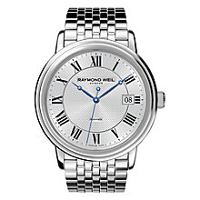 Buy Raymond Weil 2837-ST-00659 Maestro Men's Stainless Steel Round Dial Bracelet Watch, Silver Online at johnlewis.com
