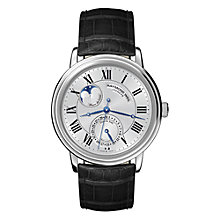 Buy Raymond Weil 2839-STC-00659 Maestro Men's Automatic Black Leather Strap Watch Online at johnlewis.com