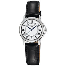 Buy Raymond Weil 5376-STC-00300 Tradition Women's White Dial Leather Strap Watch Online at johnlewis.com