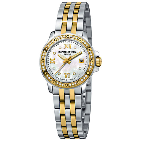 Buy Raymond Weil 5399-SPS-00995 Tango Women's Two Tone 44 Diamond Bracelet Watch Online at johnlewis.com