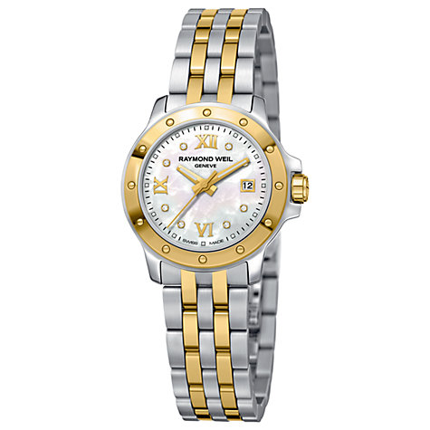 Buy Raymond Weil 5399-STP-00995 Tango Women's Mother of Pearl Diamond Set Two Tone Bracelet Watch Online at johnlewis.com