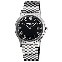 Buy Raymond Weil 5466-ST-00208 Tradition Men's Black Dial Stainless Steel Bracelet Watch Online at johnlewis.com