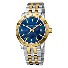 Buy Raymond Weil 5599-STP-50001 Tango Men's Blue Dial Two Tone Bracelet Watch Online at johnlewis.com