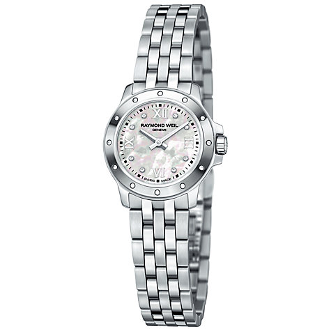 Buy Raymond Weil RWTGBTWT0054 Women's Tango Mother of Pearl Dial Date Bracelet Watch Online at johnlewis.com