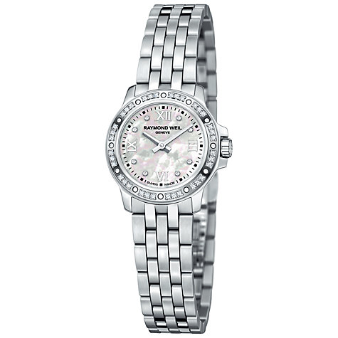 Buy Raymond Weil 5799-STS-00995 Tango Women's Round Mother of Pearl Diamond Set Bezel Bracelet Watch Online at johnlewis.com