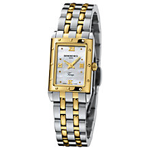 Buy Raymond Weil 5971-STP-00915 Tango Women's Mini Two-Tone Rectangular Bracelet Watch Online at johnlewis.com