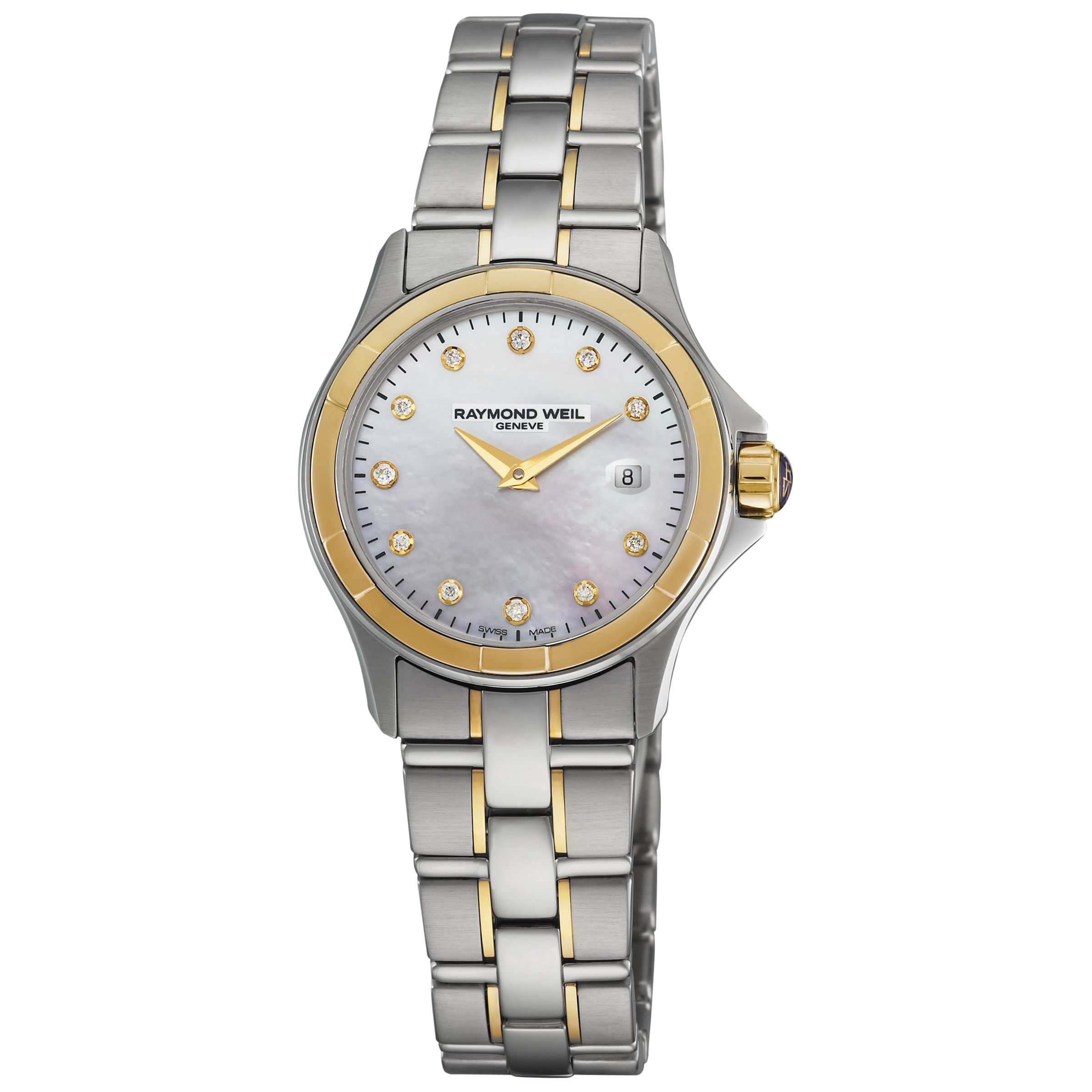 Raymond Weil 9460-SG-97081 Parsifal Women's Round Two-Tone Steel Bracelet Watch