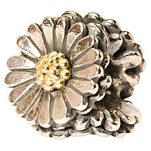 Buy Trollbeads Daisy Bead, Silver/Gold Online at johnlewis.com