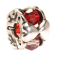 Buy Trollbeads Valentine Silver Bead, Red Online at johnlewis.com