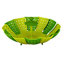 Buy Joseph Joseph Lotus Steamer, Green/Green Online at johnlewis.com