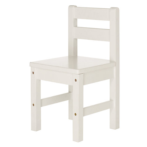 Buy John Lewis Classic Children's Chair, White Online at johnlewis.com